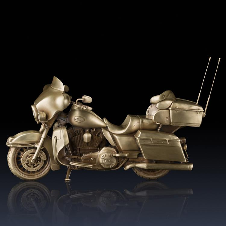 Online home decor collectible statues art bronze motorcycle figurines
