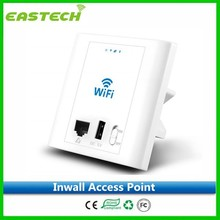 2015 factory price 300Mbps in wall wireless access point with 24V/48V POE, support VLAN and hardware AC function