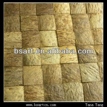 Smart natural coconut mosaic tile for indoor wall