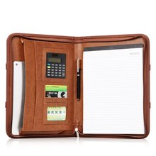 Wholesale business and luxury portfolio, unisex genuine leather briefcase for iPad mini cover
