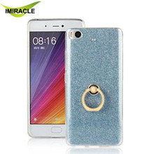 New Product Glitter Soft TPU Case with ring kickstand For Xiaomi mi 5s mi5s Mobile Phone Case
