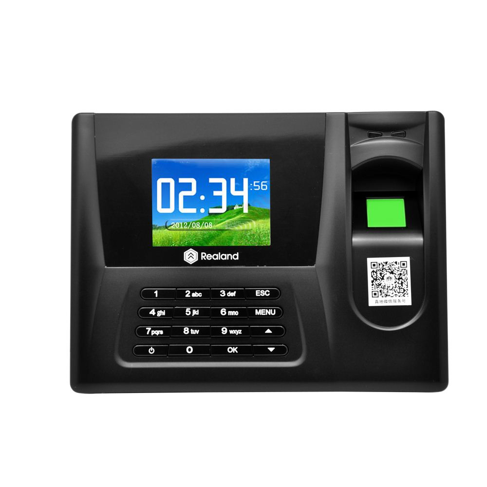 "Realand 2.8"" TFT LCD Display Biometric Fingerprint Attendance Machine ID Card Reader Time Clock Recorder Employee Checking-in"