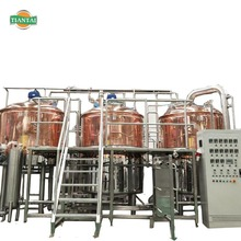 Direct Fire Heating 1200L Beer Brewing System For Microbrewery Equipment