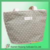 fashional canvas bag,ladies'reusable cotton tote bag with zipper for shopping