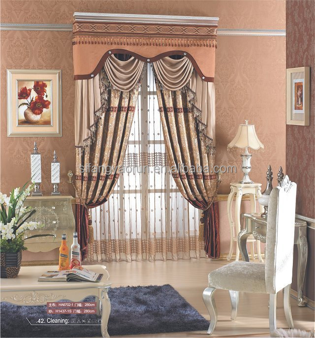 2014new luxury different styles of swiss lace curtains