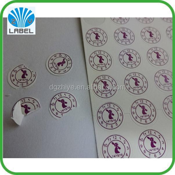 Custom printing easy tear paper fragile sticker for sealing