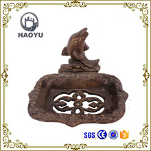Art and handicrafts cast iron animal decorative dolphin soap box