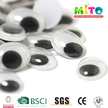 Children educational play oval shape black toy eyes for diy