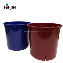8 inch round gloss plastic container pots for plant growing