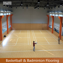 Indoor multipurpose PVC Sports Flooring for basketball