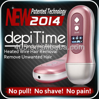 NO PAIN!!No shaving, No waxing,depiTime hair removal machines, hair removal device,epilator head/trimmer