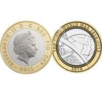 Year Queen Elizabeth II silver gold souvenir coin