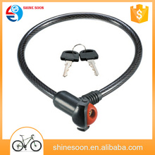 Custom safety ABS Dust proof small cable lock bike cable lock