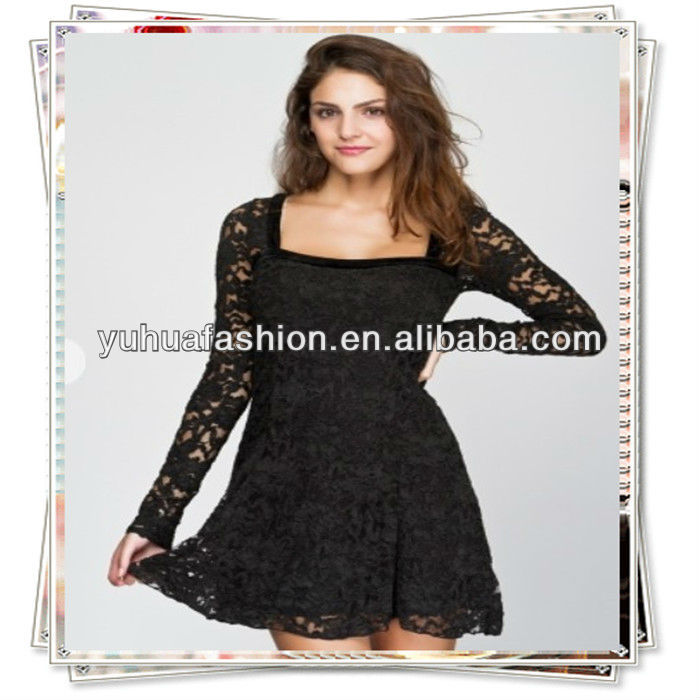 Sexy Black Lace Dress Wholesale,cheap clothing from turkey