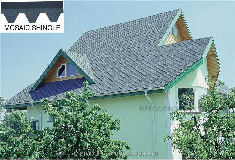 New design Mosaic blue roof shingles,villa roof tile made in China