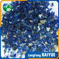 Cheap price blue tempered fire glass chips