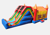 Commercial Grade Inflatable Slide with Cartoon Banner
