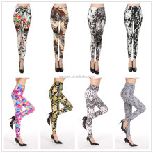 wholesale soft comfortable colorful flowers printed leggings fashion panty