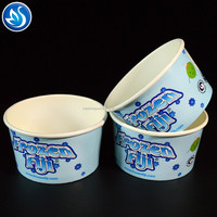 Wholesale paper ice cream cup with paper lid, gelato paper cup