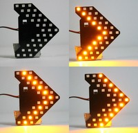 Super Red Blue Amber 33-SMD Sequential LED Arrows for Car Side Mirror Turn Signal Lights 12V Flash Strobe Indicator
