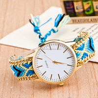 wholesale 2017 latest fashion knitting geneva vogue fancy lady watch