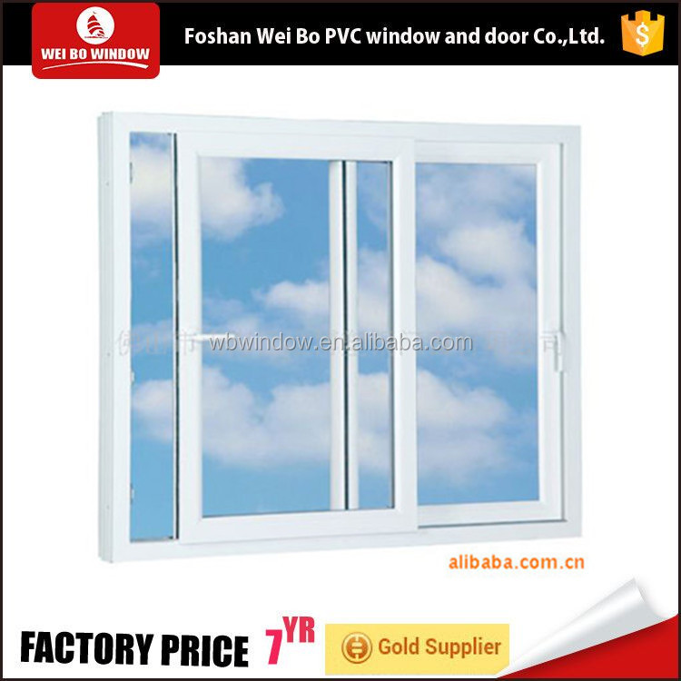 American new style pvc sliding window with double sashes