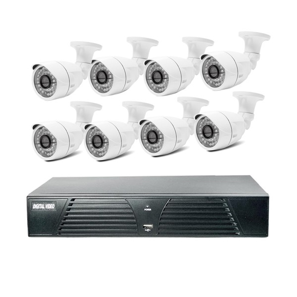 720P/960P/1080P 8 channel home use security system cctv camera kits