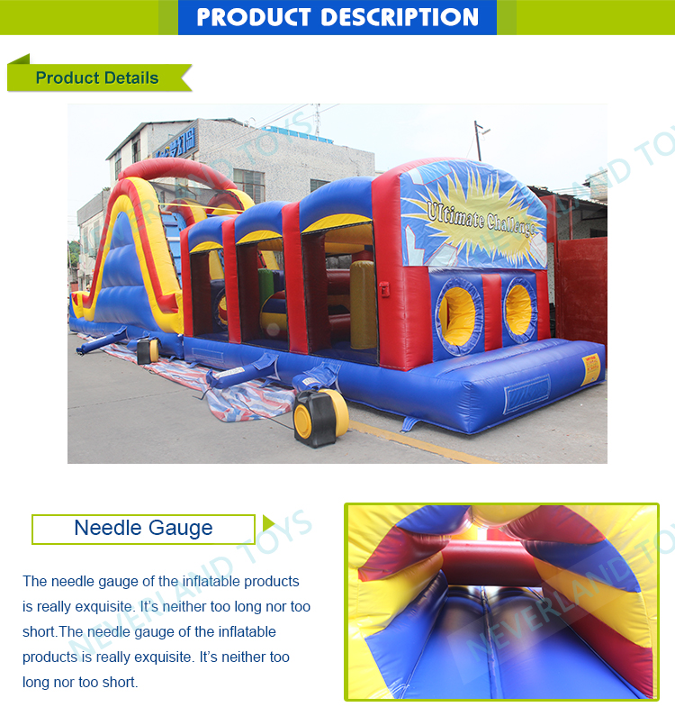 Neverland Toys IFO-50 50' Ultimate Challenge Obstacle inflatable obstacle course adult inflatable obstacle course