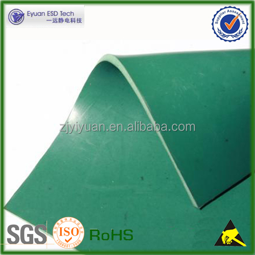 Manufacturer factory use Customized anti static ESD rubber table top mat