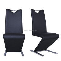 Hot modern leather and metal home chair