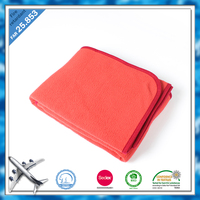 Best anti pilling plain adults fleece blankets wholesale for airplane and home