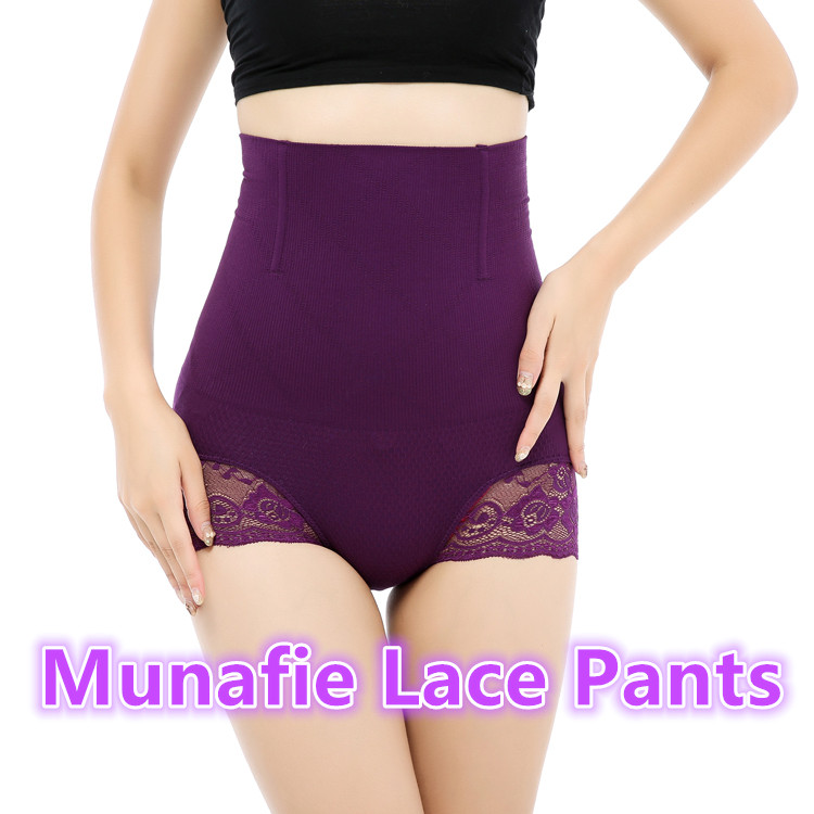 High waist slim panty munafie lady's body shaper slimming panties