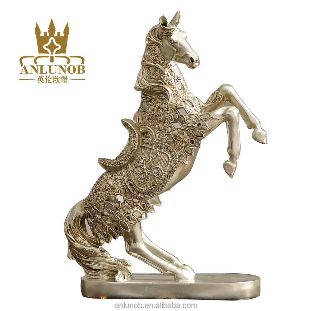 New Creative Resin animal running horse statue gift craft for home decoration