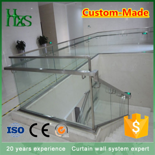 High Quality Modern Design Decorative Indoor Stainless Steel Staircase Railing Model Interior Stairs Tempered Glass balustrade