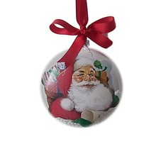 lovely santa chrsitmas flat glass ball ornaments