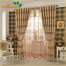 New Curtains Style For 2016 Wholesale Curtain 100% Polyester Luxury Jacquard Blackout Ready Made Curtain Turkey