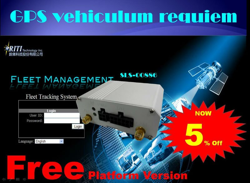 2G 3G GPS vehicle tracking device with free fleet management platform
