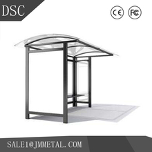 factory hot sales customize welding/polishing steel structure bus stop shelter