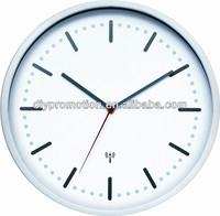 Round shape big size radio controlled wall clock with radio controlled clock movement