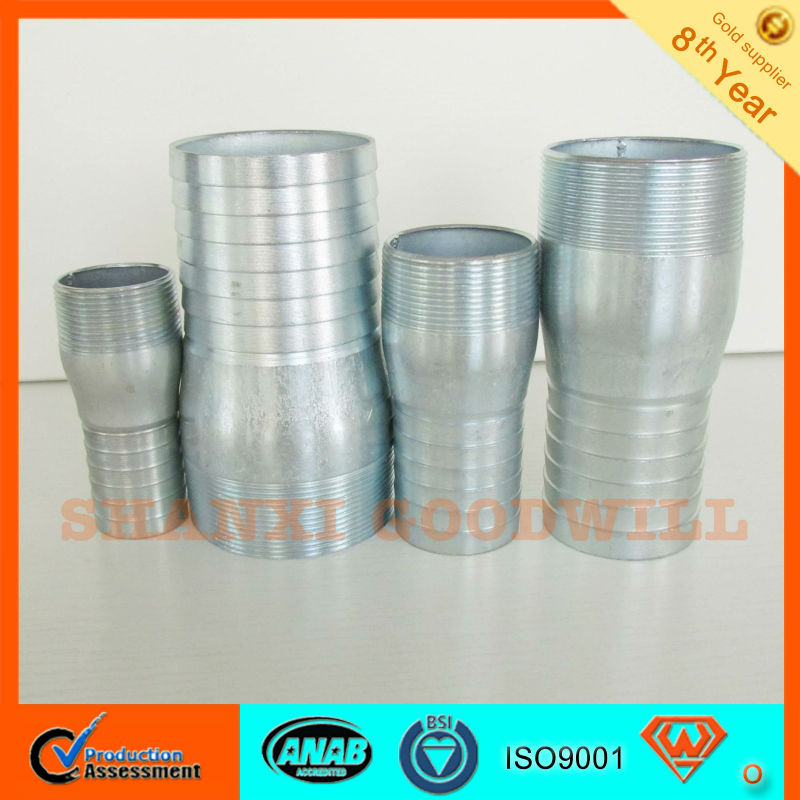 Pipe Fittings galvanized all thread pipe nipple--SHANXI GOODWLL