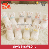 W8041 wholesale new design cute animal rabbit baby shoes for winter
