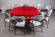1800mm restaurant round table and chairs for party