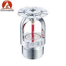 Brass quick reaction glass bulb fire sprinkler for fire security