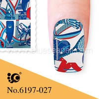 easy nail art paper sticker toe nail stickers