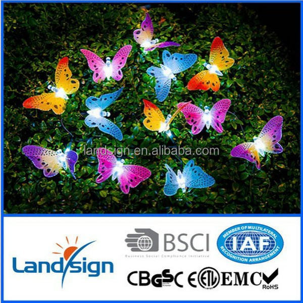 China supplier made Led Lights Series XLTD-118 Solar Fiber Optic Butterfly String Lights for Bushes Shrubs Porch Patio Yard New