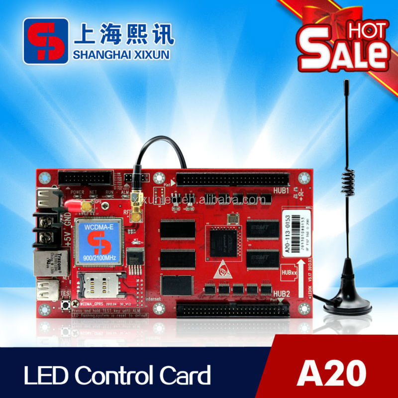 3G wireless usb port LED display control board support hub75/40 card