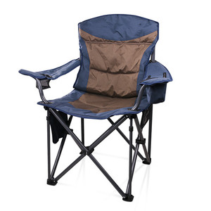 High Quality Deluxe Outdoor Folding Camping Chairs with Cooler