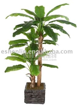 Artificial tree leaves banana buy artificial tree leaves for Artificial banana leaves decoration