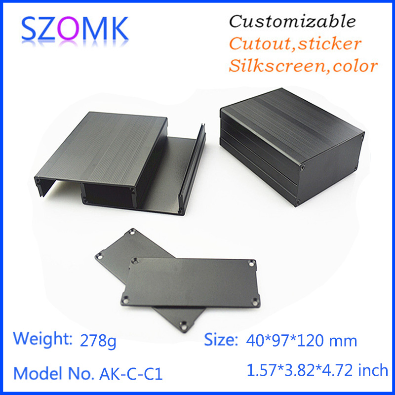 Black color professional extruded aluminum housing 40*97*120mm
