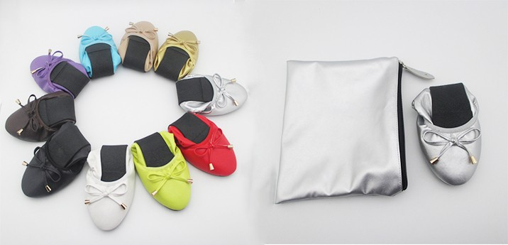 Roll up Ballerina Shoes in bag